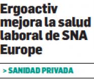Estrategia Empresarial dice que Ergoactiv mejora la salud laboral de SNA Europe