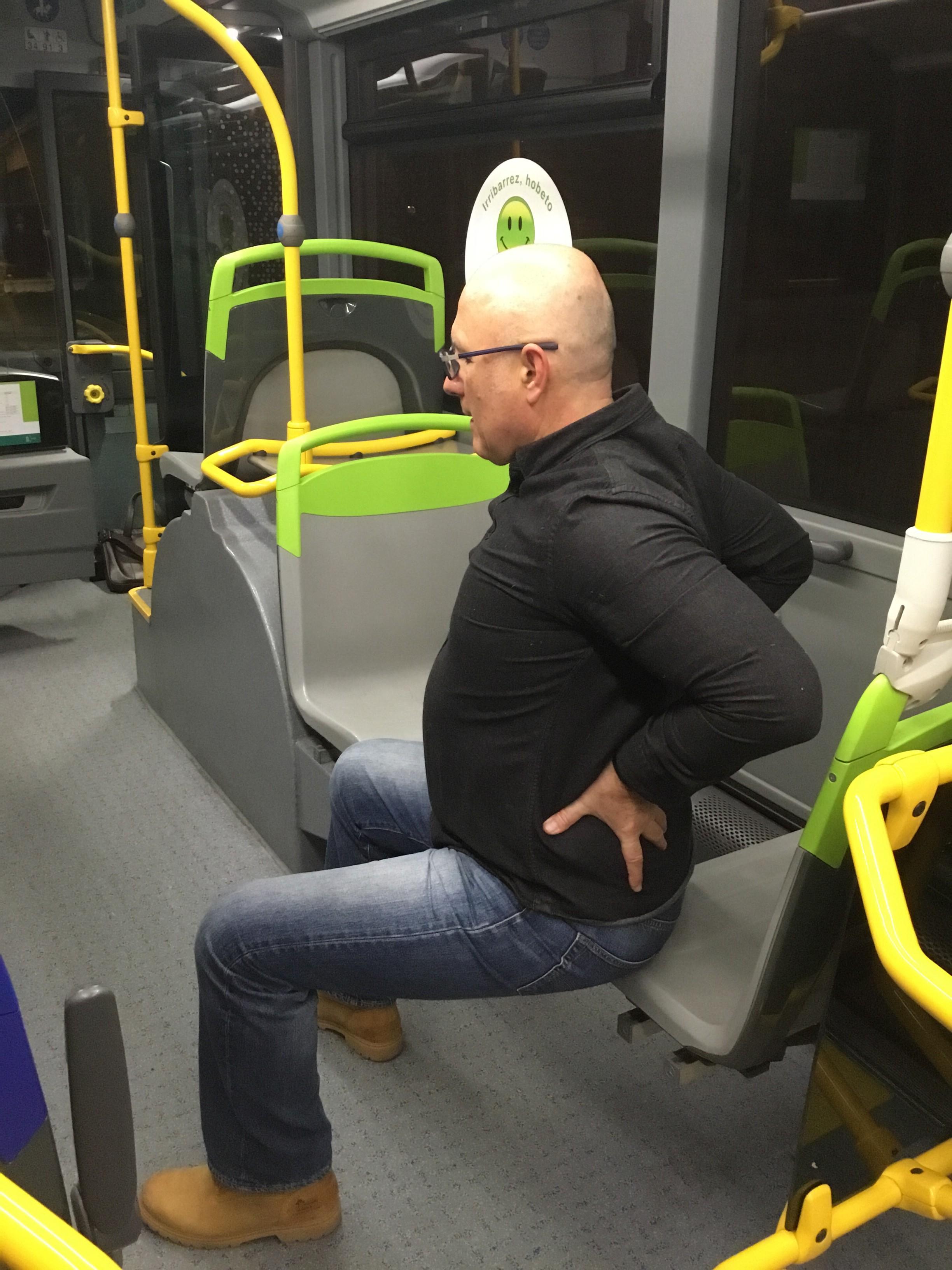 El autobús como gimnasio